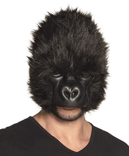 Boland Gorilla Mask Adult Plush Half Face Mask Monkey Ape Halloween Fancy Dress -
