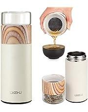 LVZ Tea Tumbler Water-Tealeaves Separated Travel Tea Mug Tea Infuser Portable Tea Thermos Leaf Strainer Filter Hot Water Cup Vacuum Bottle