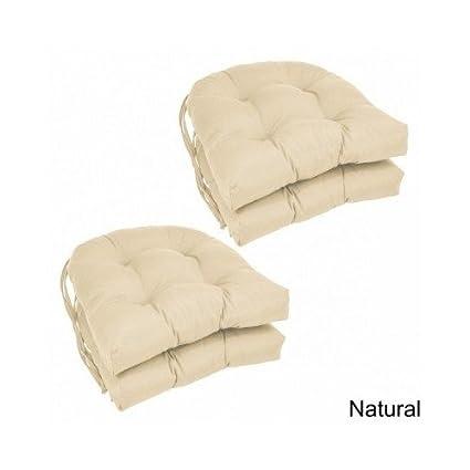 Charmant Modern 16 Inch U Shaped Twill Dining Chair Cushions (Set Of 4)