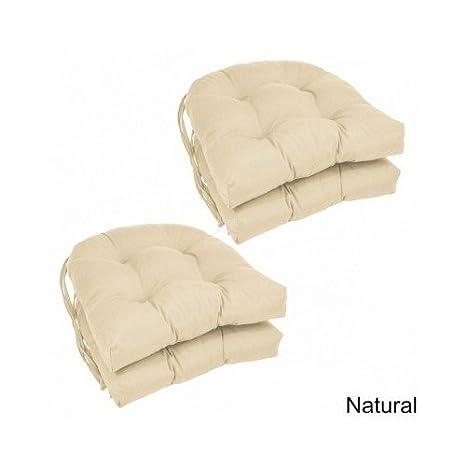 Amazon.com: Moderno en forma de U, de sarga cojines de silla ...