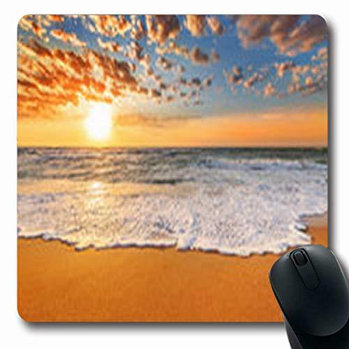 Pandarllin Mousepads Nice Ocean Myrtle Beach Sunrise Nature France Oblong Shape 7.9 x 9.5 Inches Oblong Gaming Mouse Pad Non-Slip Rubber - Bay Myrtle