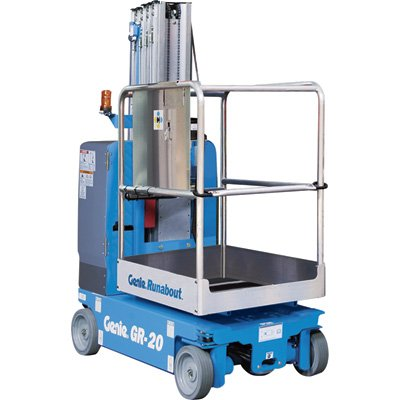 Genie Runabout Lift with Standard Platform - 350 to 500-Lb. Capacity, 11Ft.4in. Lift, Model# GR12 -