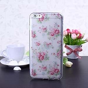 Zaki Small Fresh Flowers Pattern TPU Soft Case for iPhone 6 Plus