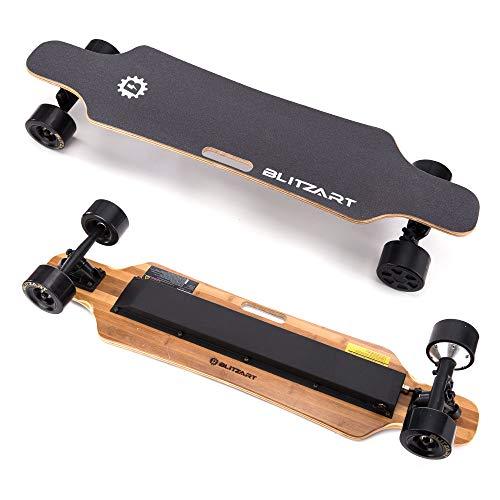 BLITZART Huracane 38' Electric Skateboard Electronic Longboard 17mph 350W Hub-Motor 3.5' 90mm