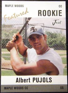 Albert Pujols Rookie Card RC Minor League Maple Woods card in a screw down case. (Albert Card Rookie Pujols)