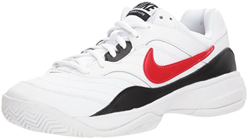 Nike Men's Court Lite Tennis Shoe, White/University red/Black, 7.5 D US by Nike (Image #1)