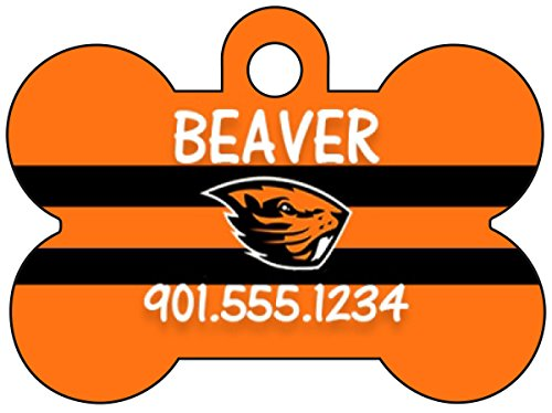 Oregon State Beavers Dog Tag Pet Id Tag Personalized w/ Name & Number