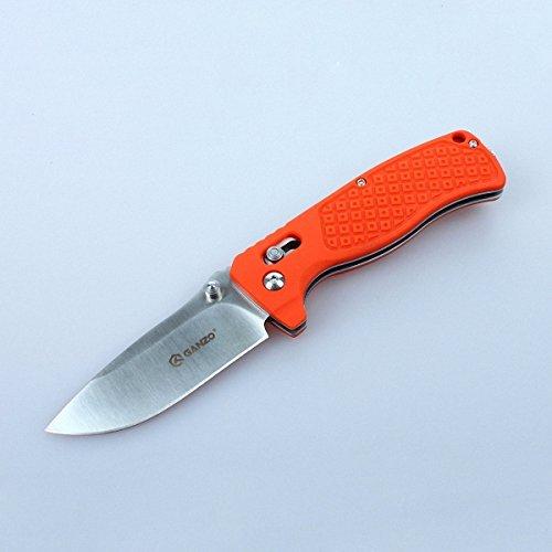 GANZO G724M-OR Folding Knife 440c Blade Orange G10 Handle Axis Lock (Lock Knife Axis)
