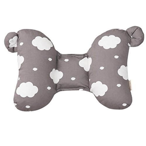 Happy Cotton 2 Tone Infant's Cloud Head Pillow Gray 30 x 22 cm by Happy Cotton