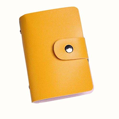 Daorokanduhp バッグ スモール 薄型 クレジットカードケース ホルダー オーガナイザー 財布 名刺 24個のカードスロット付き メンズ レディース マルチカードスロット ブルー B07L8FNZ6F イエロー