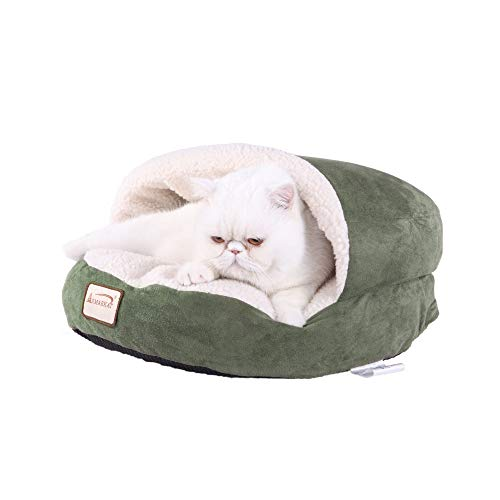 - Armarkat Cat Bed, Laurel Green and Ivory