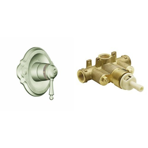 (Moen TS3110BN-S3371 Waterhill ExactTemp Shower Only with Valve, Brushed Nickel)