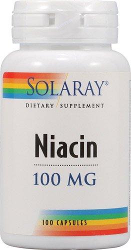 Solaray - la niacine, 100 mg, 100 gélules