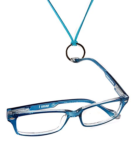 Durable Front Snaps (iSNAP Magnetic Reading Glasses. Snap ON, Snap OFF. Never lose your eyeglasses again (+2.50, Blue))