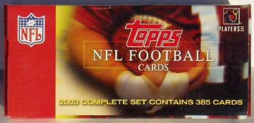 2003 Topps Complete Factory Football Set 2003 Topps Football Card