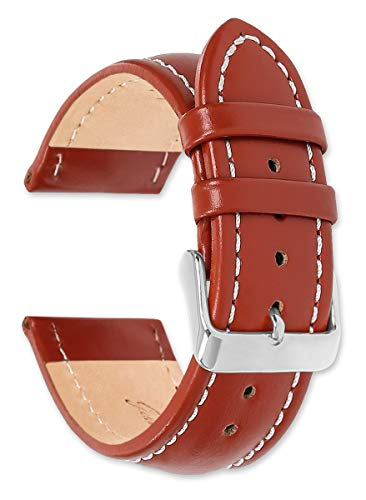 - Breitling Style Oil Tanned Leather Replacement Watch Band - Havana 20mm