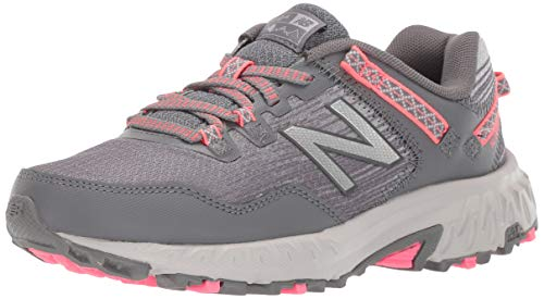 - New Balance Women's 410v6 Cushioning Trail Running Shoe, Dark Grey/Pink, 8 B US