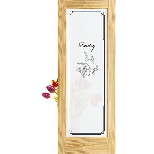 1-Lite Pantry Frosted Privacy Glass French Door Unfinished, 28