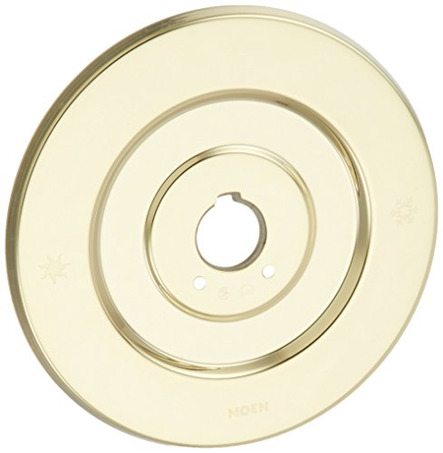 Moen 16098 Chateau Escutcheon, Polished Brass Brass Double Handle Shower