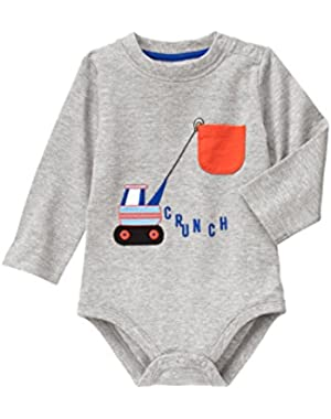Boys Digger Bodysuit And Jumping Beans Navy Pants (6 Months)