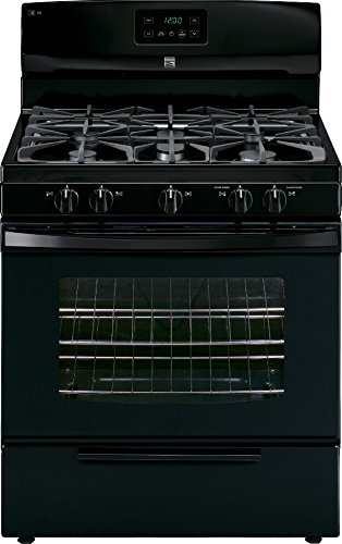 Price comparison product image Kenmore 73439 4.2 cu. ft. Standard Clean Gas Range in Black,  includes delivery and hookup