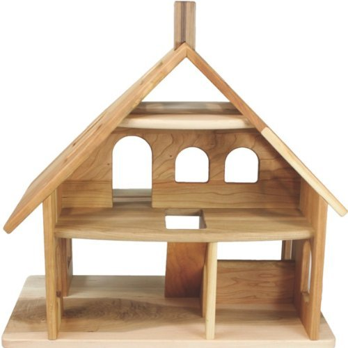 Camden Rose Three Story Cherry Wood Dollhouse