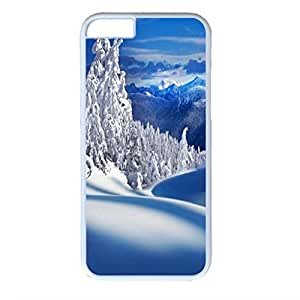 Snow Mountain Personalized Design White PC Case for Iphone 6 Landscape