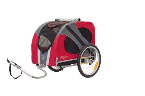 (DoggyRide Novel Dog Bike Trailer, Urban Red)