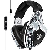 Xbox One Gaming Headset SADES Stereo PC Gaming Headset with Mic Noise Cancelling Over Ear Gaming Headphones with Soft Memory Earmuffs for Xbox one  PS4 Laptop Mac
