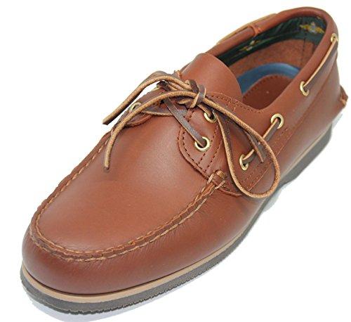 John Coleman Zapato Náutico de Verano EN Piel de Becerro Color Marrón (43) -