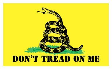 Don't Tread on Me Flag Car Bumper Sticker Decal 5