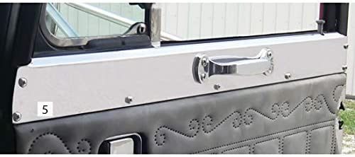 Stainless Steel Upper Door Trim Fits Peterbilt 359