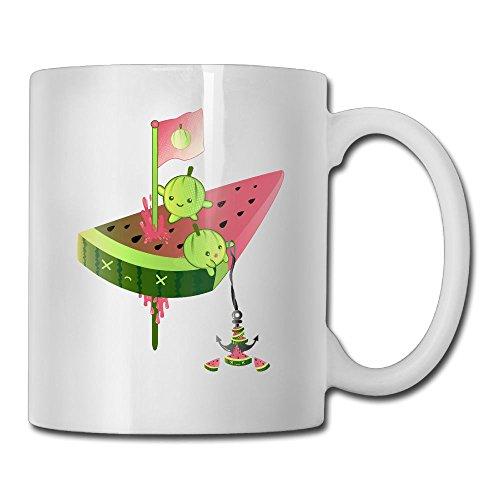 Melon Vs Watermelon Fashion Coffee Cup