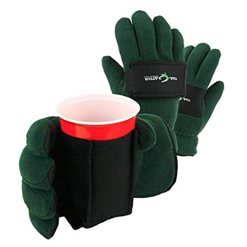 TailGatorTM Beverage Glove - The Ultimate Cold Weather Party Glove - Green, X-Large