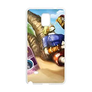 samsung galaxy note4 phone case White Singed league of legends EER7573223