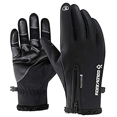 FLYSPEAR Winter Gloves Touch Screen Gloves Texting Gloves Cold Weather Lightweight Windproof Thermal Outdoor Activities Running Cycling Gloves for Men & Women(Black)