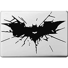 "Vati Leaves Removable Creative Cartoon Batman Logo Decal Sticker Skin Art Black for Apple Macbook Pro Air Mac 13"" 15"" inch / Unibody 13"" 15""Inch Laptop"