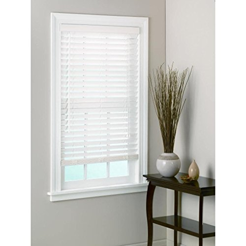 All Strong, USA White Bamboo Window Blinds 2-inch Slats 50-59 Inches 72 Inches 52 x 72 -