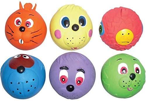 6 pelotas de juguete con caras para perro o cachorro. Tamaño de ...