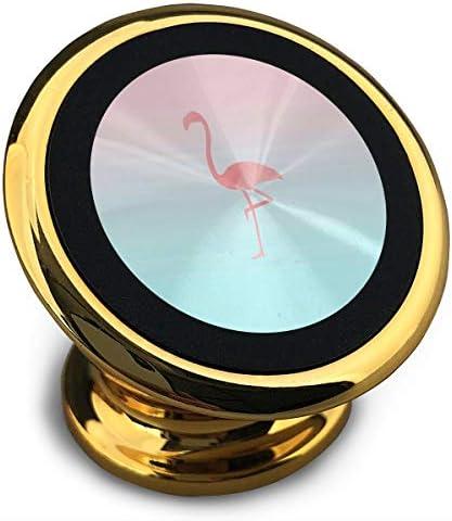 フラミンゴアニアム 携帯電話ホルダー おしゃれ 車載ホルダー 人気 磁気ホルダー 大きな吸引力 サポートフレーム 落下防止 360度回転