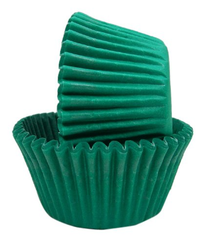Regency Wraps Greaseproof Baking Cups, Solid Green, 40-Count, Standard.