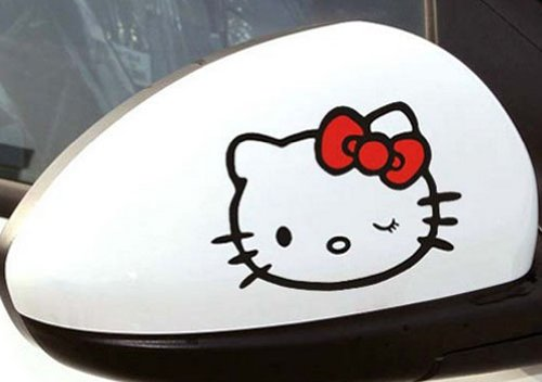 (2pcs Auto Car Mirror Hello Kitty Vehicle Decor Stickers )