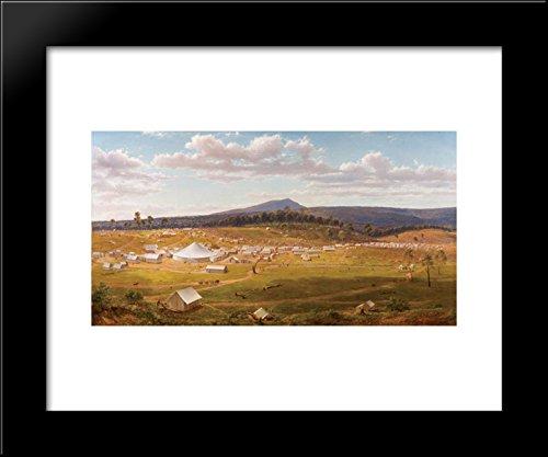 Ballarat in 1853-1854 20x24 Framed Art Print by Eugene von -