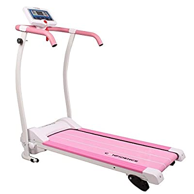 Confidence Power Trac Pro 735W Motorized Electric Folding Treadmill Running Machine Pink with 3 Manual Incline Settings (Certified Refurbished)