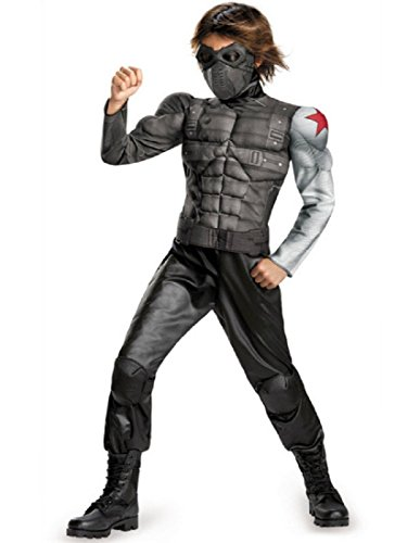 Disguise Marvel Captain America The Winter Soldier Movie 2 Winter Soldier Boys Classic Muscle Costume, Small -