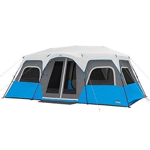 CORE Lighted 12 Person Instant Cabin Tent – 18′ x 10′