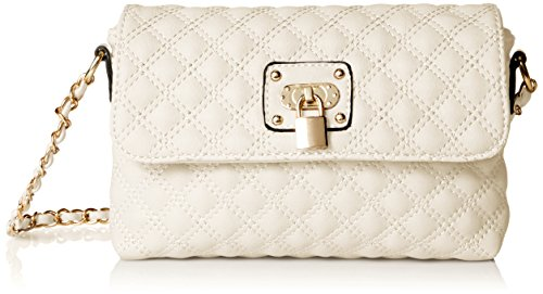 Collection Leather Small Messenger (MG Collection Erika Small Satchel, Beige, One Size)