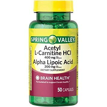 Spring Valley Acetyl L-Carnitine HCl Alpha Lipoic Acid Dietary Supplement Capsules, 50 ()