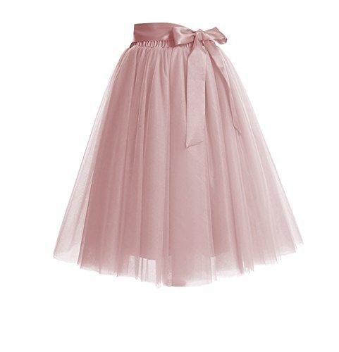 CoutureBridal Women's Princess Party Tulle Tutu Midi Skirt