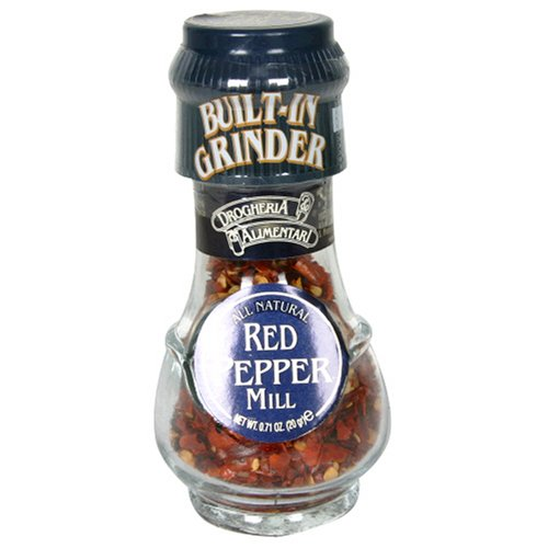 Drogheria & Alimentari All Natural Spice Grinder Red Pepper (chili), 0.71 Ounce Jars (Pack of 3)
